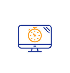 Seo timer line icon search engine optimization vector