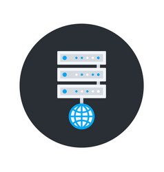 server icon flat style vector image