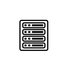 server line icon in flat style for apps ui vector image