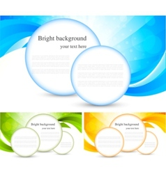 Set of bright background vector
