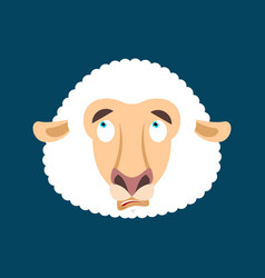 sheep was confused avatar of emotions ewe is vector image