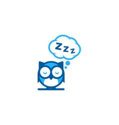 Sleep logo icon design vector