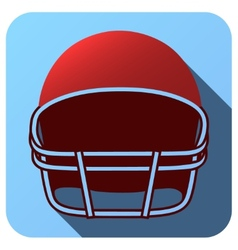 Sport icon with american football in flat style vector