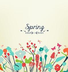 Spring postcard vintage vector