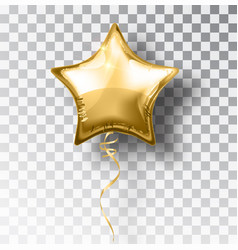 Star gold balloon on transparent background party vector