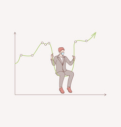 stock market crash during coronavirus concept vector image
