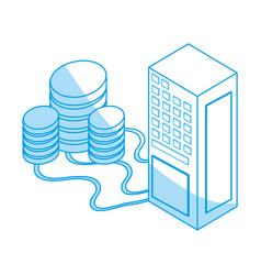 Storage database 3d vector
