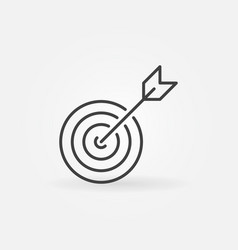 target concept icon in thin line style vector image