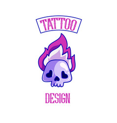 tattoo studio logo template vector image