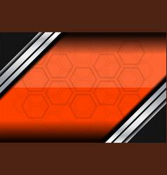 template orange background vector image