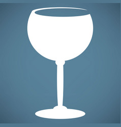 the wineglass icon goblet symbol vector image