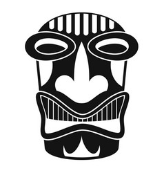 Tiki idol face icon simple style vector
