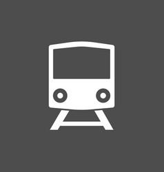 train railway icon flat vector image