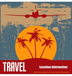tropical beach travel vector image vector image