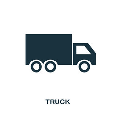 truck icon in flat style icon design vector image