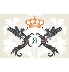 vintage heraldry background vector image