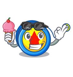 with ice cream yoyo character cartoon style vector image