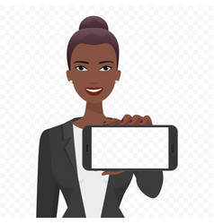 young african businesswoman showing the empty vector image