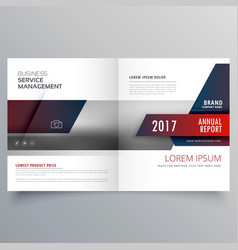 Business magazine bifold brochure template with vector