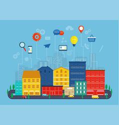 global communication and navigation concept vector image