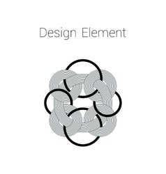 Round design element made of lines vector image vector image