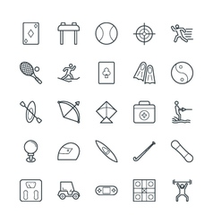 Sports Cool Icons 3 vector image