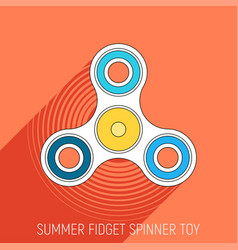 three blades fidget spinner toy in flat style vector image