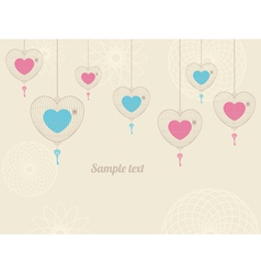 Background with love cages vector image vector image