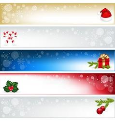 Christmas headers vector