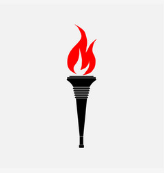 icon torch the flag vector image