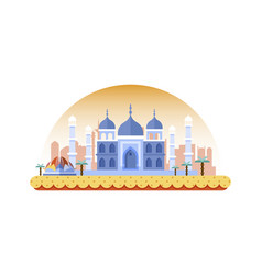 india icon in flat style vector image vector image