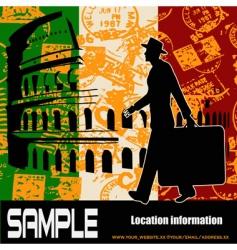 italian travel vector image
