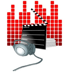 movie theater background vector image vector image