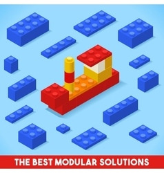Toy Block Ship Games Isometric vector image vector image