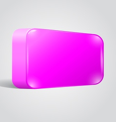 Blank shiny lilac web button vector image