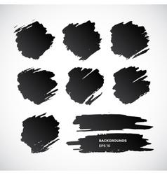 Brushstroke banners Ink spot backgrounds vector image