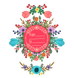 round frame with ornament vector image