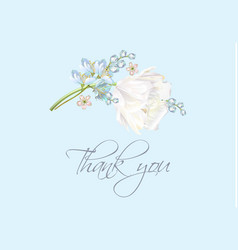 tulip thank you blue vector image