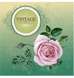 Vintage border with rose vector image vector image