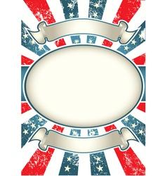 vintage usa background vector image