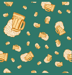 beer mug seamless pattern vector image