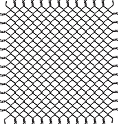 black woven wire fence vector image vector image