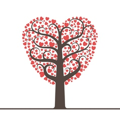 Love tree with space for text vector image vector image