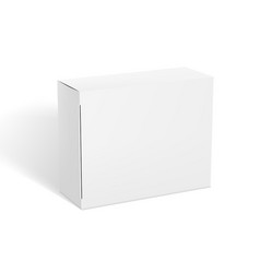 3d realistic clear white package box template vector image