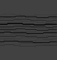 Abstract grey black circuit pattern modern vector