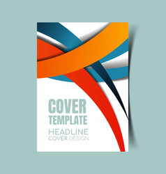 Abstract report cover 26 vector