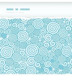 Abstract swirls horizontal torn seamless pattern vector image