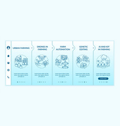 Agriculture innovation onboarding template vector