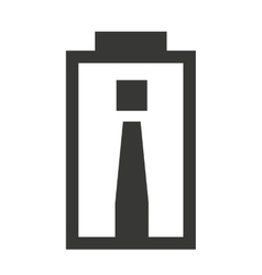 Alert Battery status isolated icon design vector