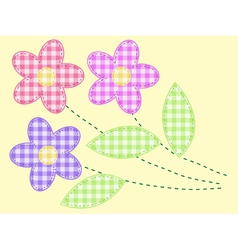 applique flowers vector image